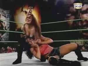 audrey marie leah west divy divas wrestling cycki piersi dekolt bez stanika